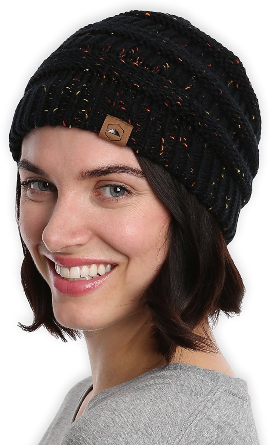 Tough Headwear Cable Knit Beanie Thick, Soft & Warm Chunky Beanie Hats for Women & Men Serious Beanies for Serious Style