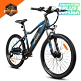 eAhora XC100 Plus 26inch 48V Mountain Electric Bike 350W Urban Commuting Electric Bikes for Adults, Removable Lithium Battery EBikes with E-PAS Recharge System Shimano 7-Speed Gear Shifts
