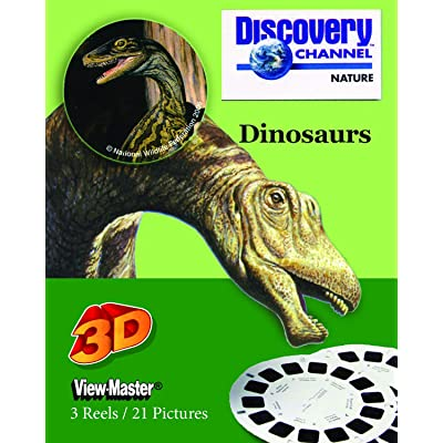 ViewMaster - Disvovery Channel - Dinosaurs - Ancient Giants - 3 Reels on Card: Toys & Games