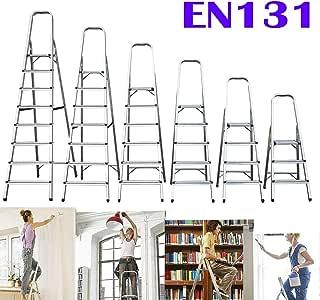 Escalera de casa Escalera de 4 escalones Escalera de Aluminio Plegable de Servicio Pesado Escalera Interior Plegable Capacidad máxima de 150 kg: Amazon.es: Deportes y aire libre