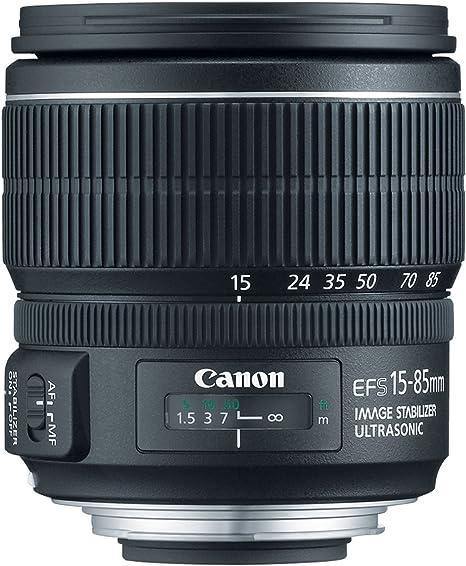 Canon EF-S 15-85mm f/3.5-5.6 IS USM Negro: Amazon.es: Electrónica