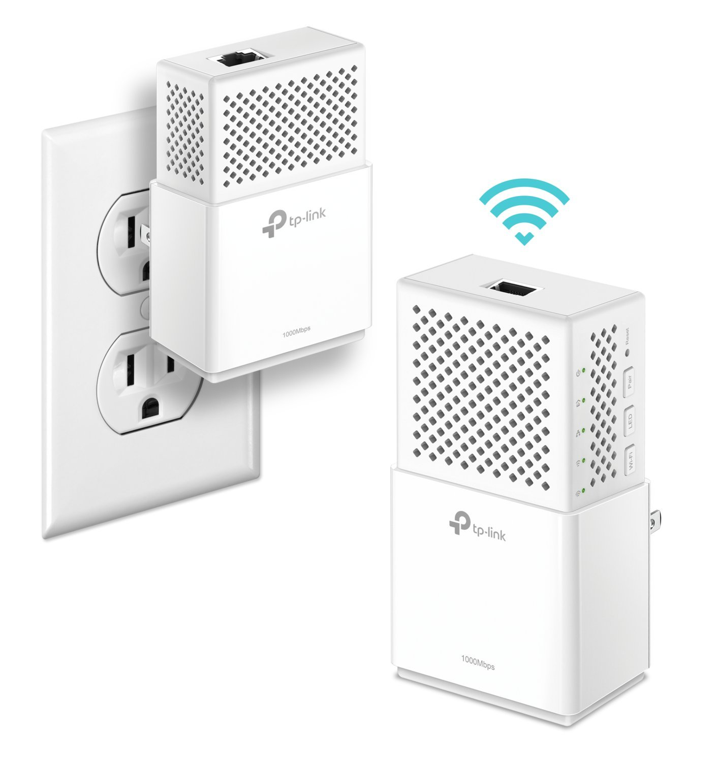 AV1000 Gigabit Powerline Dualband AC Wi-Fi Extender Kit, 1 Gigabit Port, Powerline Speeds Up to 1000Mbps (TL-WPA7510 KIT)