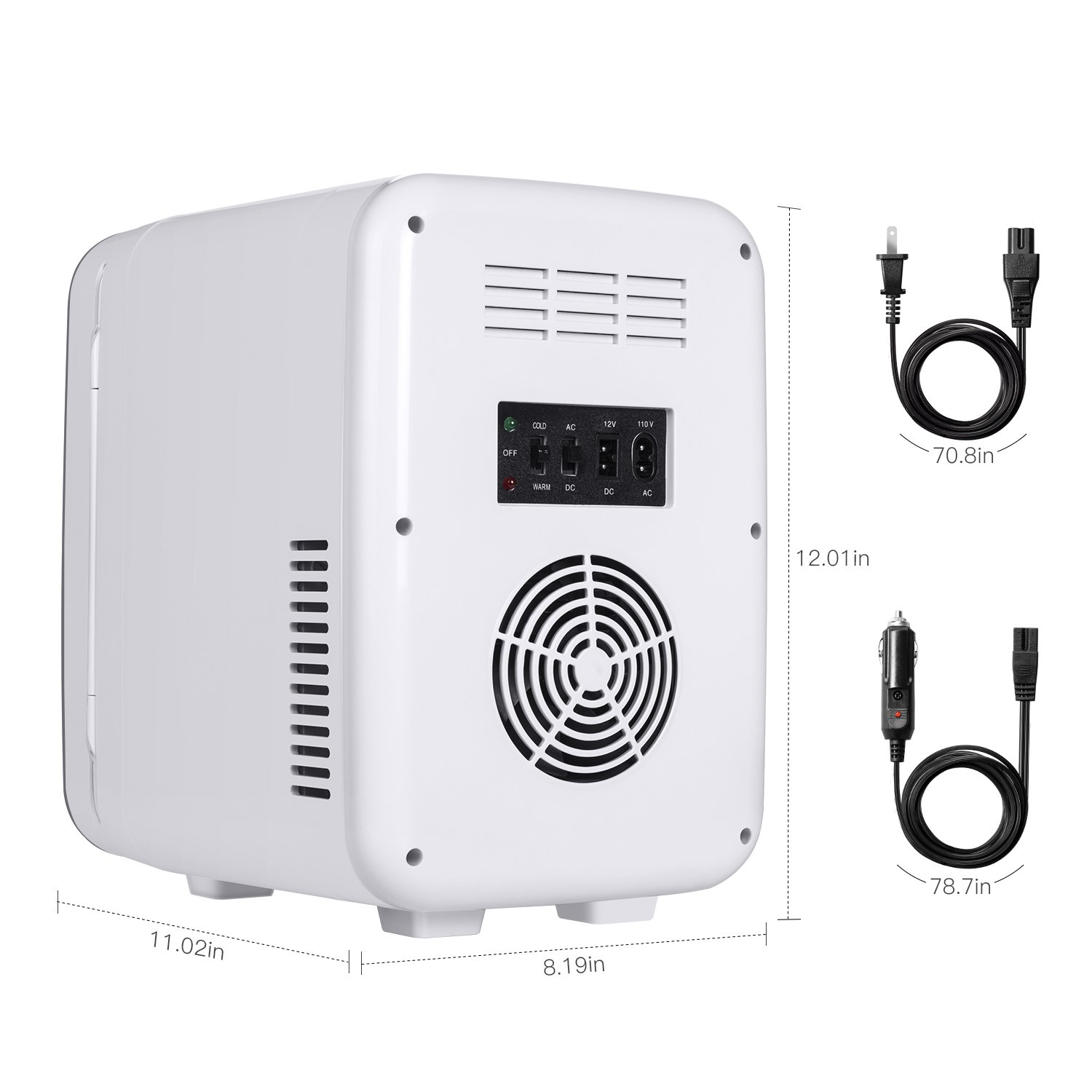 Kinverch Mini Fridge Electric Cooler and Warmer (6 Liter / 6 Can Plus) :110v AC / 12V DC Portable Thermoelectric System,,For Car /Home /Kichen/Junket/Outdoor for frinds / parents/yourself (Silver) by Kinverch (Image #2)
