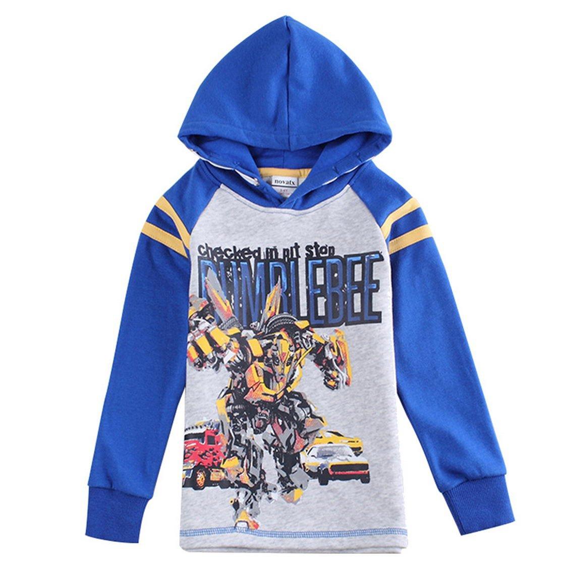 Transformers Little Boys Cartoon Soft Hooded Athletic Cotton Sweatshirt Jacket Tiful