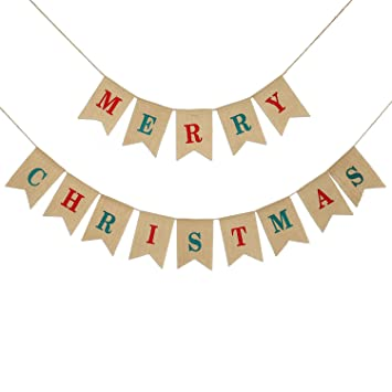 Guirlande Joyeux Noel Decoration Konsait 4 2 M Guirlande Banniere