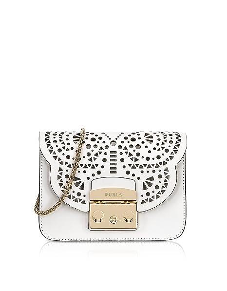 Furla - Cartera de mano para mujer blanco Weiß Marke Größe, color blanco, talla Marke Größe: Amazon.es: Ropa y accesorios