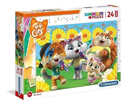 Amazon.com: Clementoni Supercolor Puzzle - 44 gatos - 24 ...
