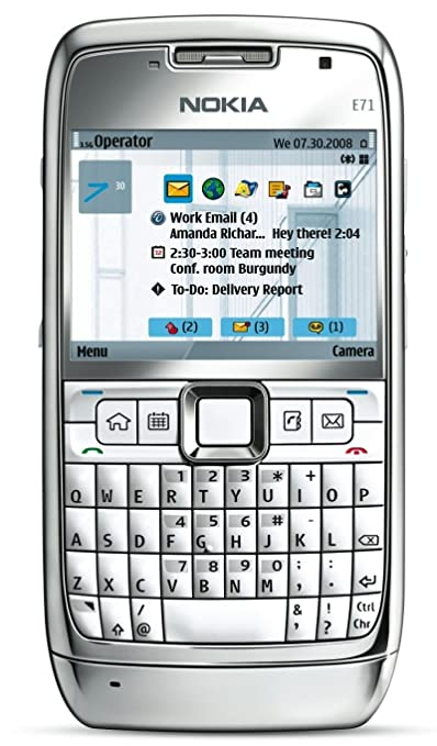Nokia E71 Unlocked Phone with 3 2 MP Camera, 3G, Media Player, GPS with  Free Voice Navigation, Wi-Fi, and MicroSD Slot--US Version with Warranty