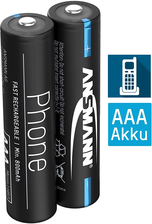 Ansmann Telefon Akku Aaa 800mah Nimh 1 2v Phone Dect Elektronik