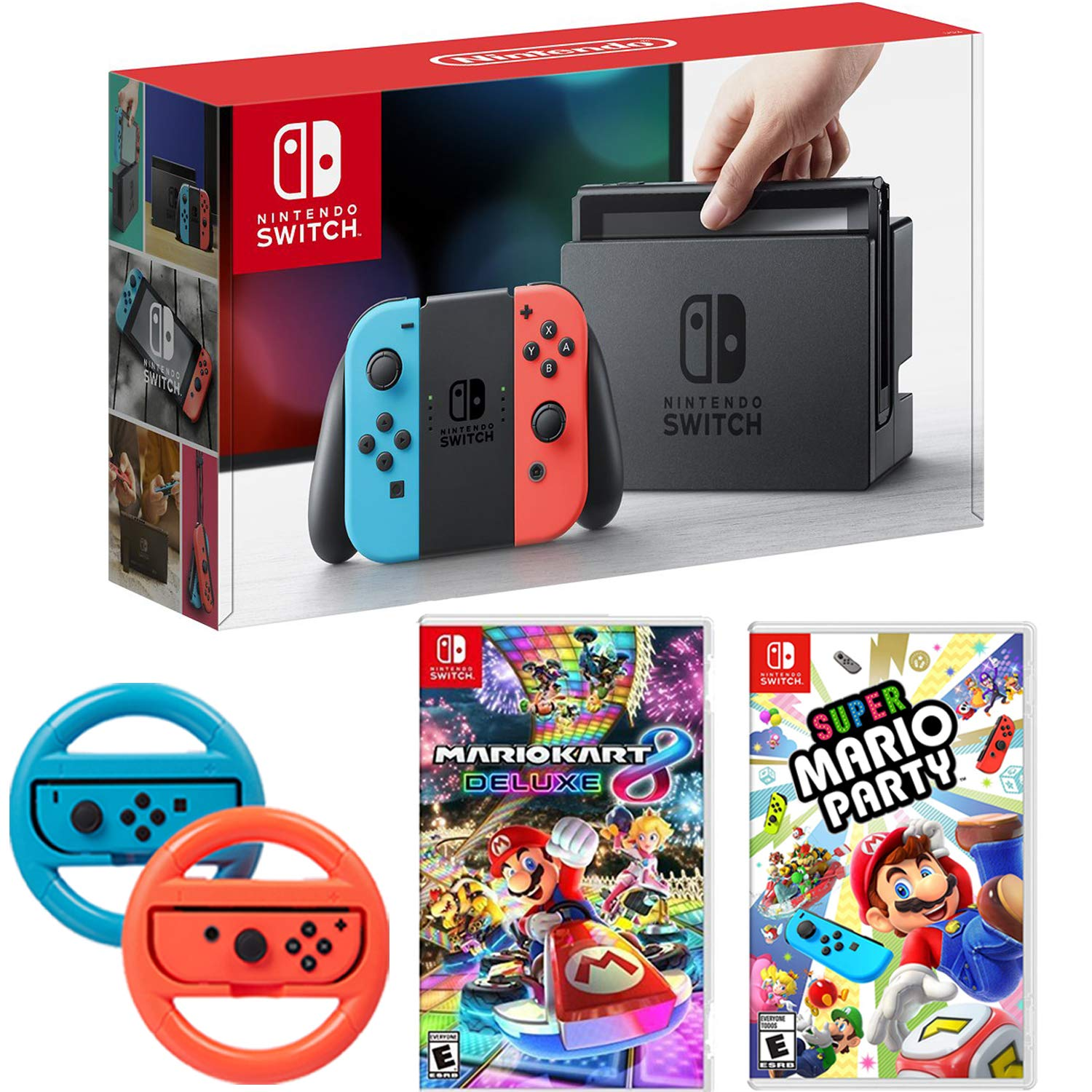 Amazon Com Nintendo Switch Console With Red Blue Joycon