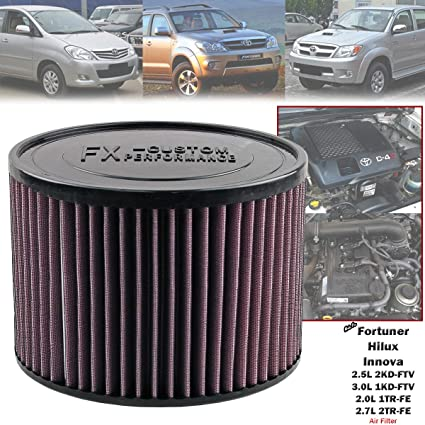 Amazon com: High Flow Air Filter For Toyota Fortuner Hilux