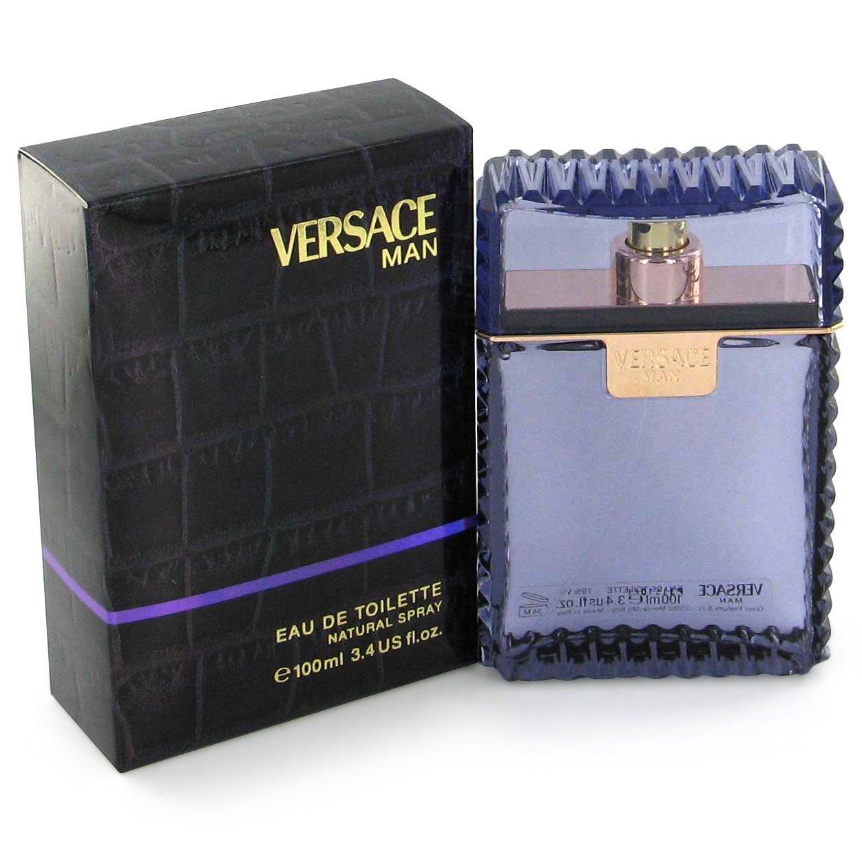 Versace Man Eau de Toilette for Men, Pur...