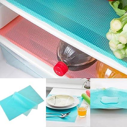Voiks Multifuncional Bases Antideslizantes EVA - Alfombras de Refrigeradorde Silicona Ideal para Frigorífico, Mostrador de