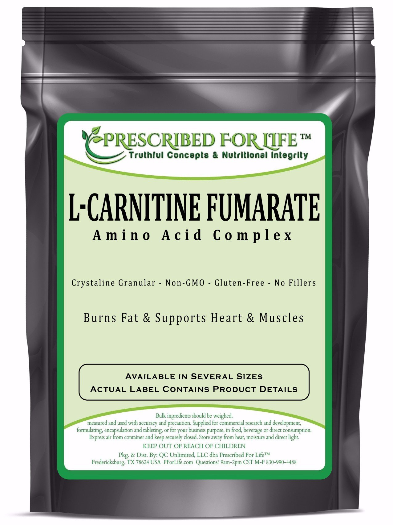 Carnitine Fumarate (L) - Amino Acid Weight Management Crystalline Powder, 2.5 lb by Prescribed For Life