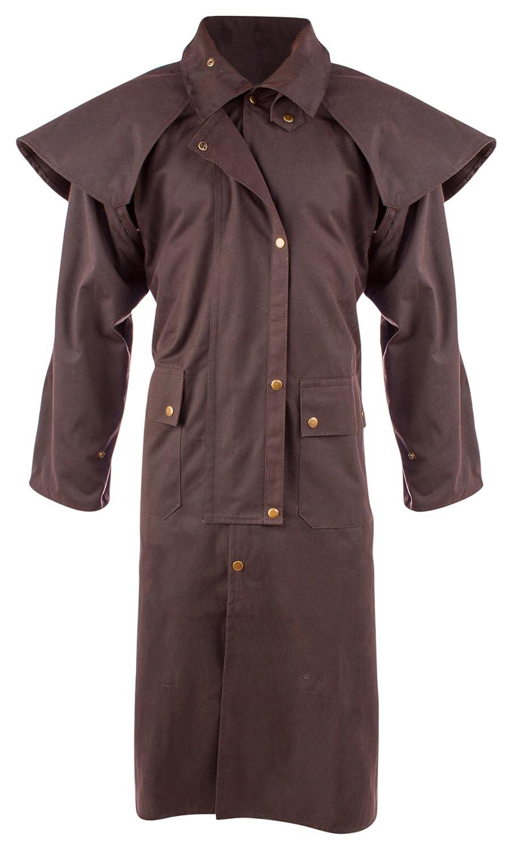 d9d2ef298 AceRugs Mens Oil Cloth Oilskin Western Australian Waterproof Duster Coat  Jacket (Brown, XL)