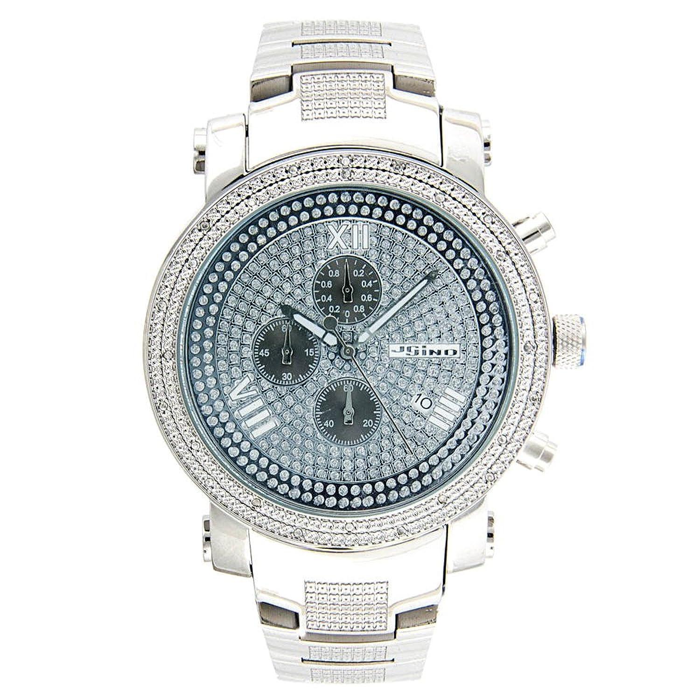 Jojino Nevada mj-1098. 53 -70 mm rund. Herren Diamant Uhr. (weiß)