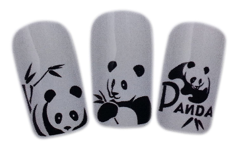Amazon.com: Cute Panda Design Nail Art Wrap Water Transfer Decals ...