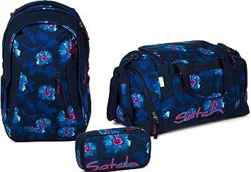 5a1f7305731b3 Satch Schulrucksack-Set 3-TLG Sleek Waikiki Blue blau  Amazon.de ...