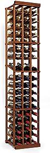 N'FINITY Wine Rack Kit - 3 Column with Display - Dark Walnut - Solid Mahogany