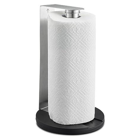 SILBERTHAL Portarollos cocina pared | Soporte rollo papel cocina | Portarrollo papel cocina acero inoxidable |