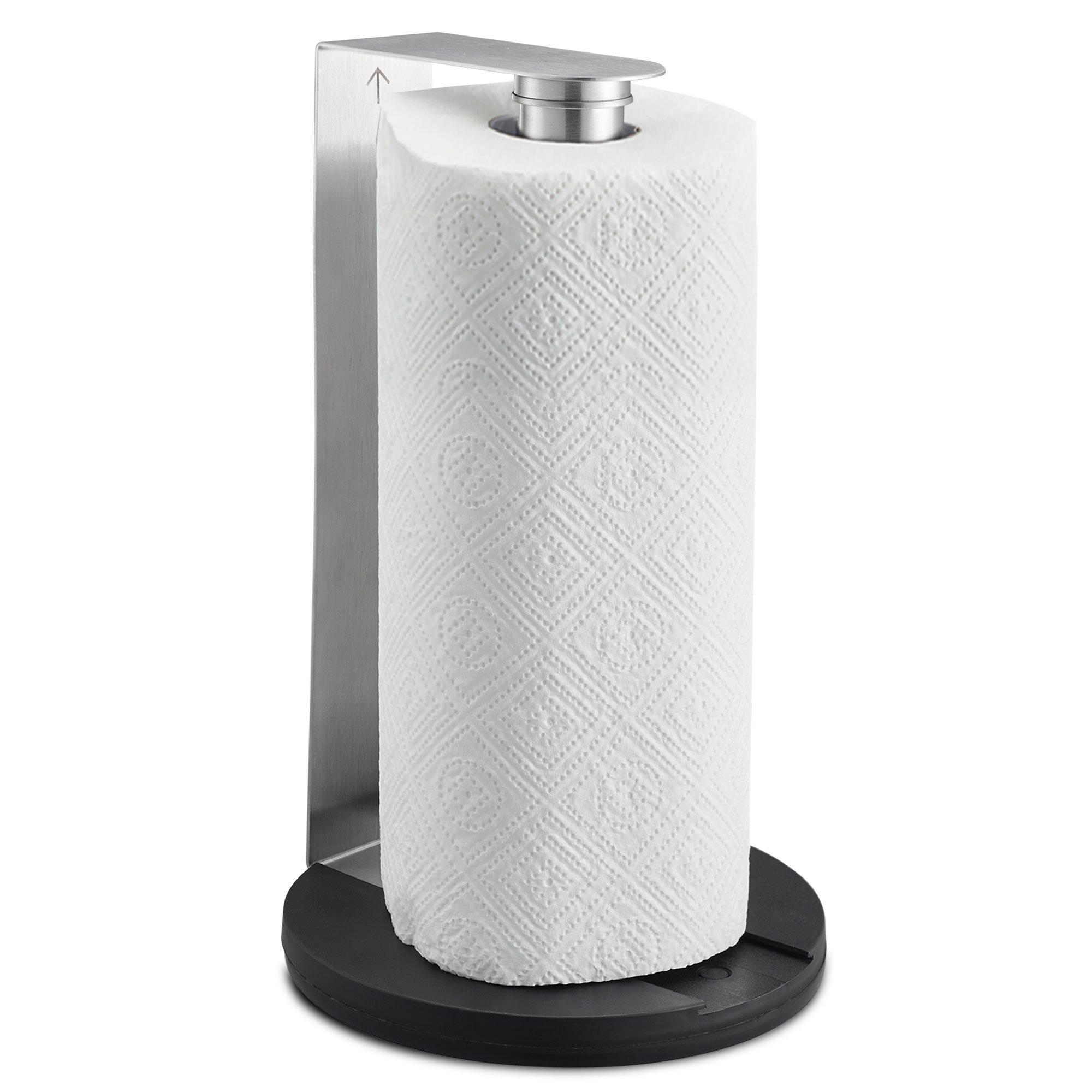 SILBERTHAL Soporte rollo papel cocina | Portarrollos de cocina pared | Portarrollo de papel de cocina