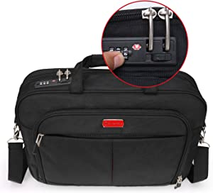 Laptop Briefcase with Combination Lock,Anti Theft Business Office Bag,Laptop Sleeve Case,for Men Women Locking Notary Bag, Hippa Bag,Gaming Computer Bag,Bible Bag,Tactical Laptop Bag