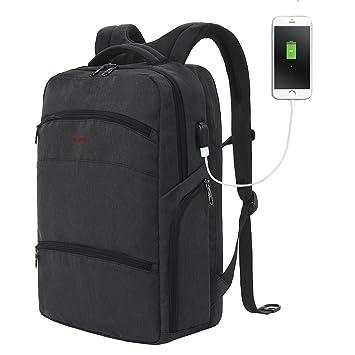 SLOTRA Scansmart Mochila para laptop de 17 pulgadas Mochila TSA Friendly  con puerto de carga USB eba0fed9dc4ec