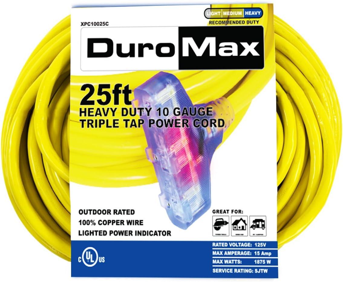 DuroMax XPC10025C Outdoor Extension Cord, XPC10025C