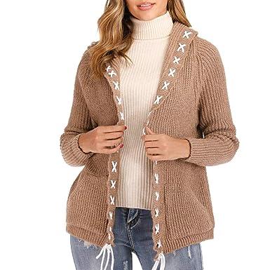 MXJEEIO🍒 Abrigos Mujer Invierno Cardigan Jersey abrigo ...