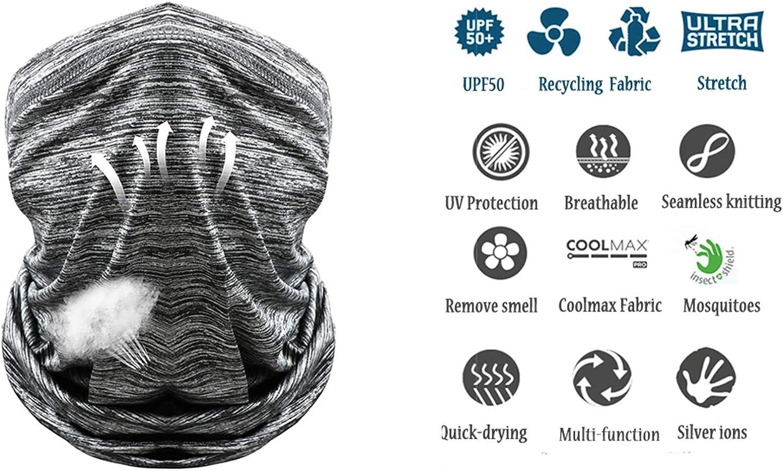 Neck Gaiter Bandana Face Scarf Mask Sun Dust Protection Fishing Hiking Running Cycling Outdoor Balaclavas