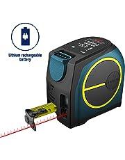 Télémètre Laser Numérique,Hanmer Mètre Laser Numérique,Mètre Ruban Laser, Distance Entre Jauge à Laser et Ruban à Mesurer avec Rétroéclairage LCD