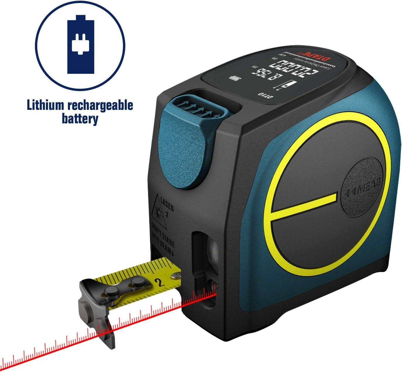 Medidor de distancia láser digital, Medidor de láser recargable Hanmer Medición láser, Mango portátil Medidor de rango digital Medidor