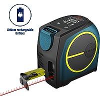 Digital Laser Distance Meter,Hanmer Rechargable Laser Meter Laser Measure,Portable Handle Digital Range Finder(Laser Tape Measure)