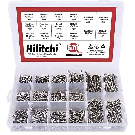 Amazon.com: Hilitchi 570 unidades de tornillos ...