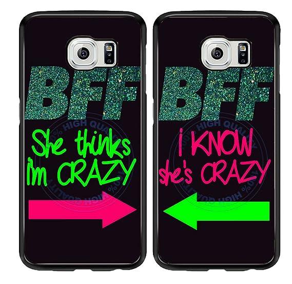 Amazon Bleureigntm Set Of 2 Bff I Know Shes Crazy Tpu Rubber