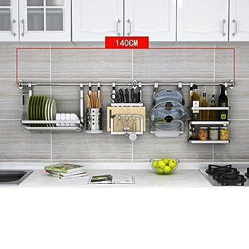 Küche Lagerung und Organisation 304 Edelstahl Küche Wand Hänge Racks ...