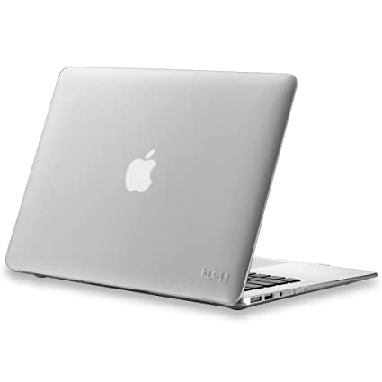 Kuzy 45635180512 Rubberized Hard Case for MacBook Air 13 inch (White)