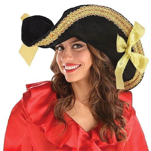 Amazon.com  Womens Pirate Hat Adult Halloween Costume Fancy Dress  Clothing 94f25f7127f
