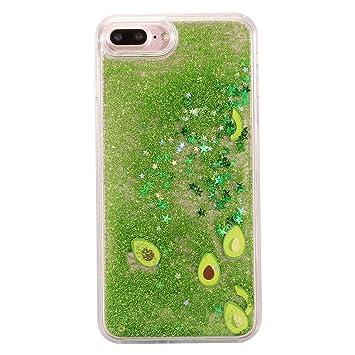 Keyihan iPhone 8/7 Funda Carcasa Transparente Claro Creativo Líquido Fluido Arena movediza Estrella Parachoques Duro con Borde Suave Bumper para Apple ...