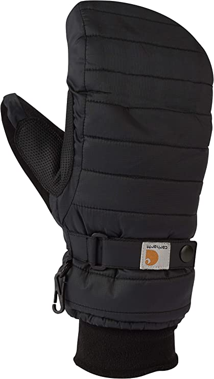 Carhartt womens Quilts Insulated Mitt With Waterproofing Wicking Insert Cold Weather Gloves