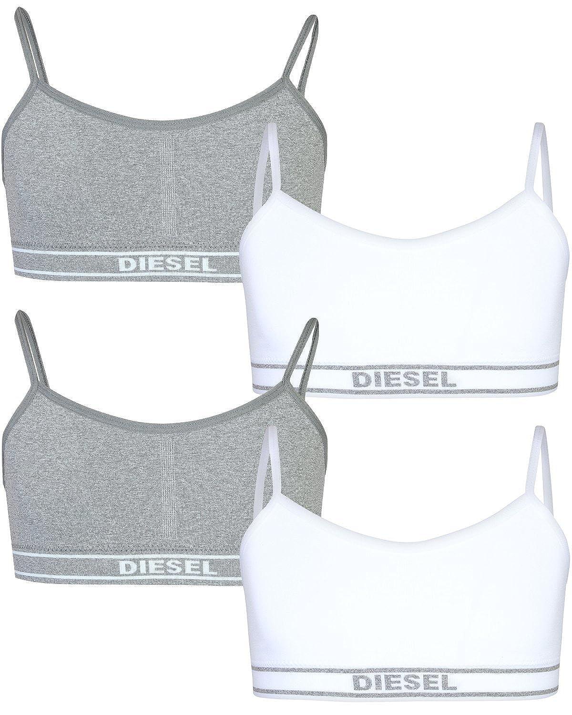Diesel Girls Nylon/Spandex Seamless Training Sports Bra (4 Pack)