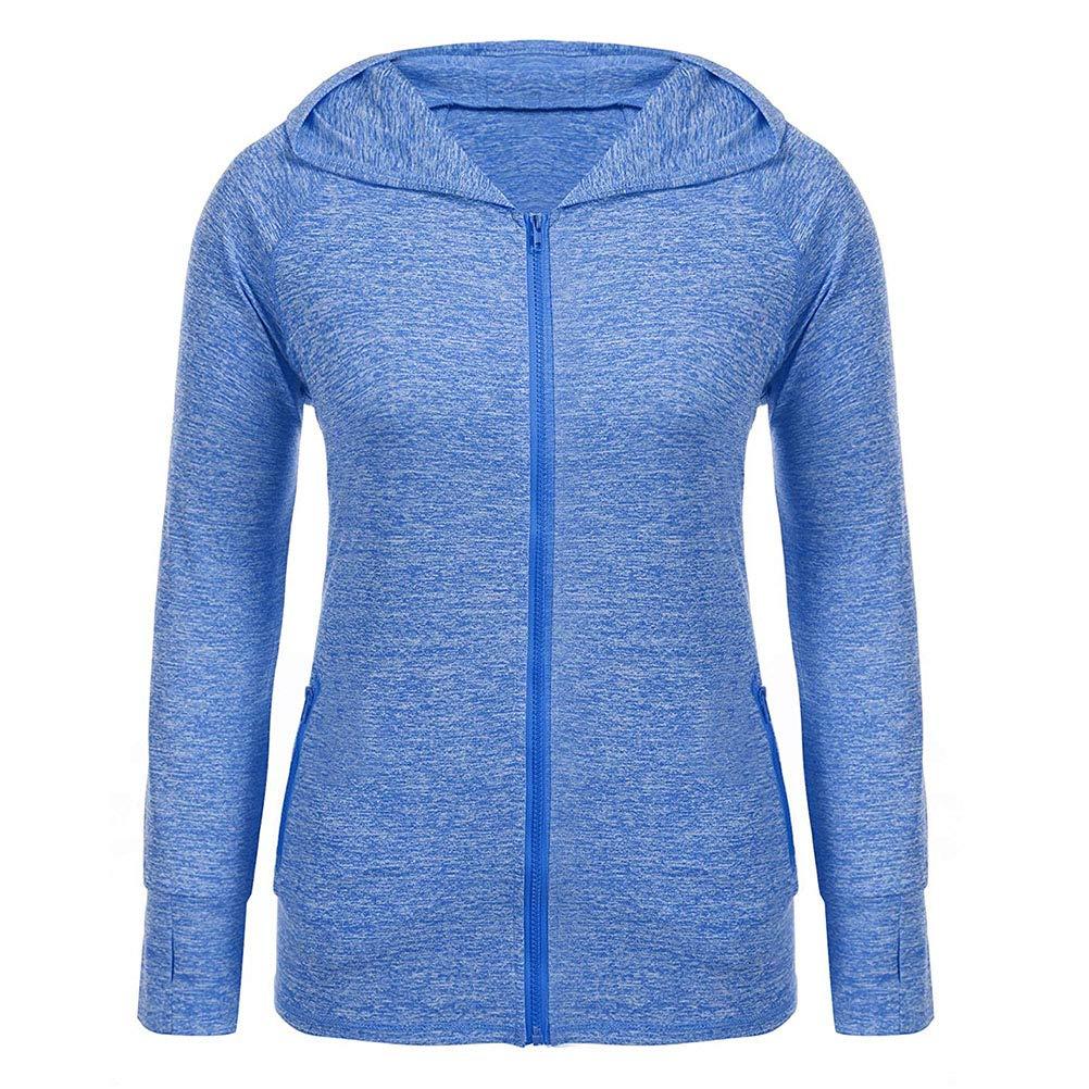 Newmere Women Hoodie Sweatshirts Leichte Sport-Kapuzenjacken mit durchgehendem Reißverschluss und Taschen. Leichte und atmungsaktive Laufbekleidung