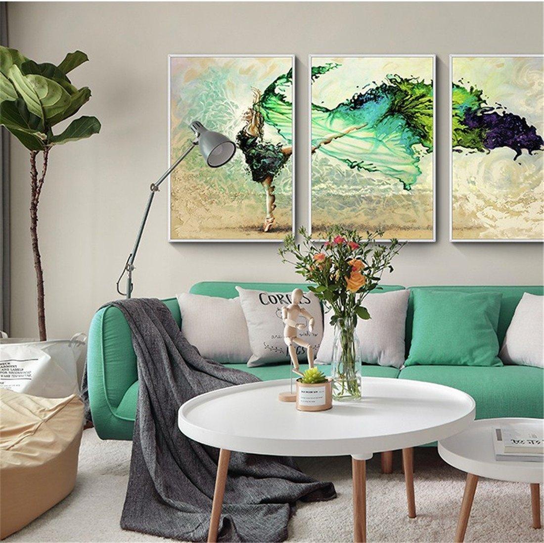 XIAPENGbailarina Sala de Estar Abstracta Pintura Decorativa sofá de Fondo Pintura de Pared Pintura de Pared Moderna nórdica Pintura Mural Simple cabecera 40  60 cm