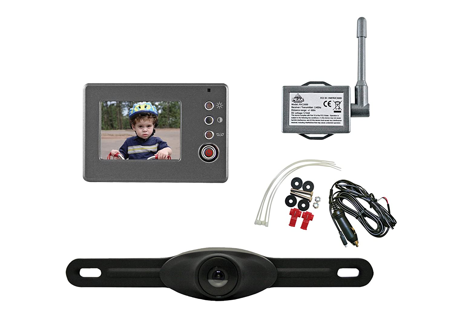 Amazon.com: Peak PKC0RA-01 Wireless Back-Up Camera System With 2.4 ...