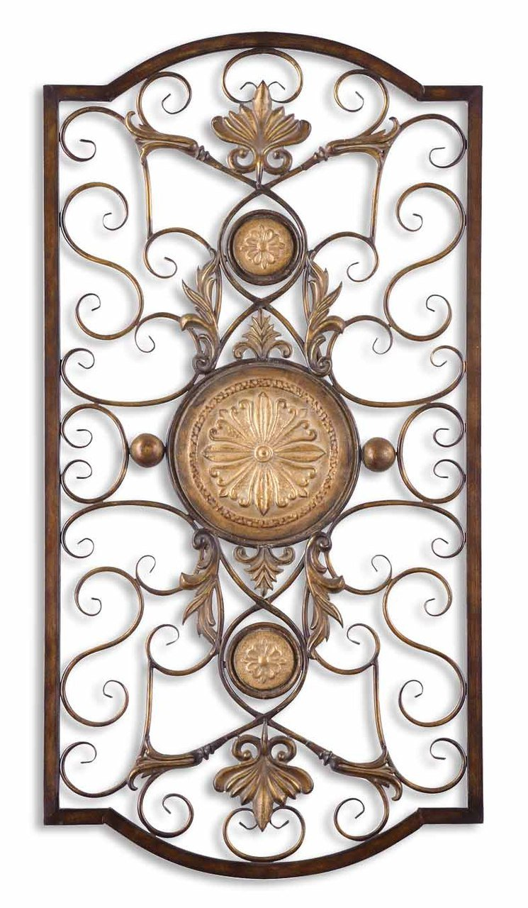 Exceptionnel Amazon.com: Ornate Large Metal Scroll Wall Grille | Open Plaque Art: Home U0026  Kitchen