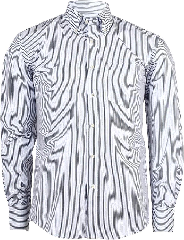 Coveri Collection - Camisa formal para hombre, blanca a rayas ...