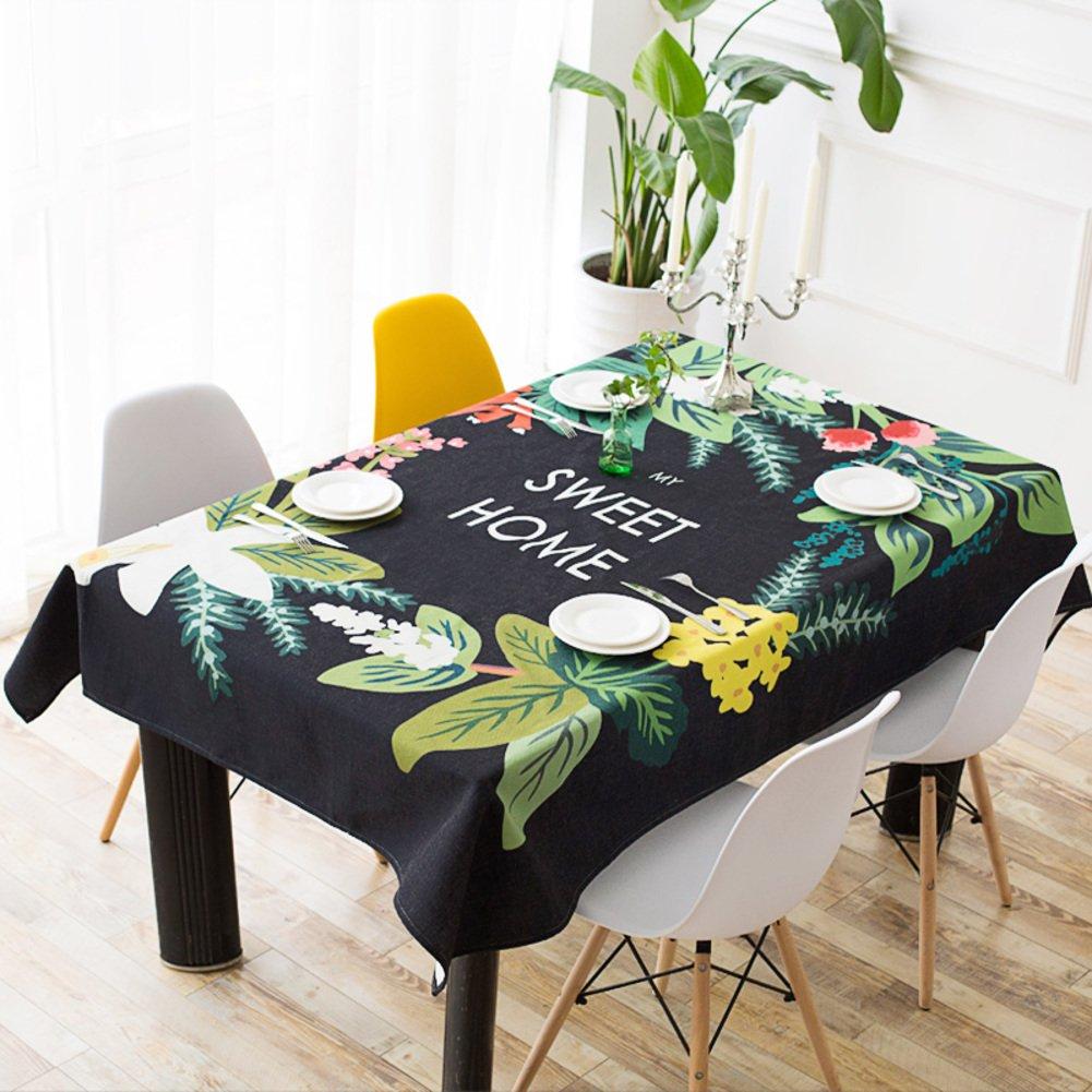 RJAFK Restaurante De Mantel De Lino De Algoduml;n/Tela Para Sala De Estar Y Mesa De Centro De Mesa-A 110x110cm(43x43inch)