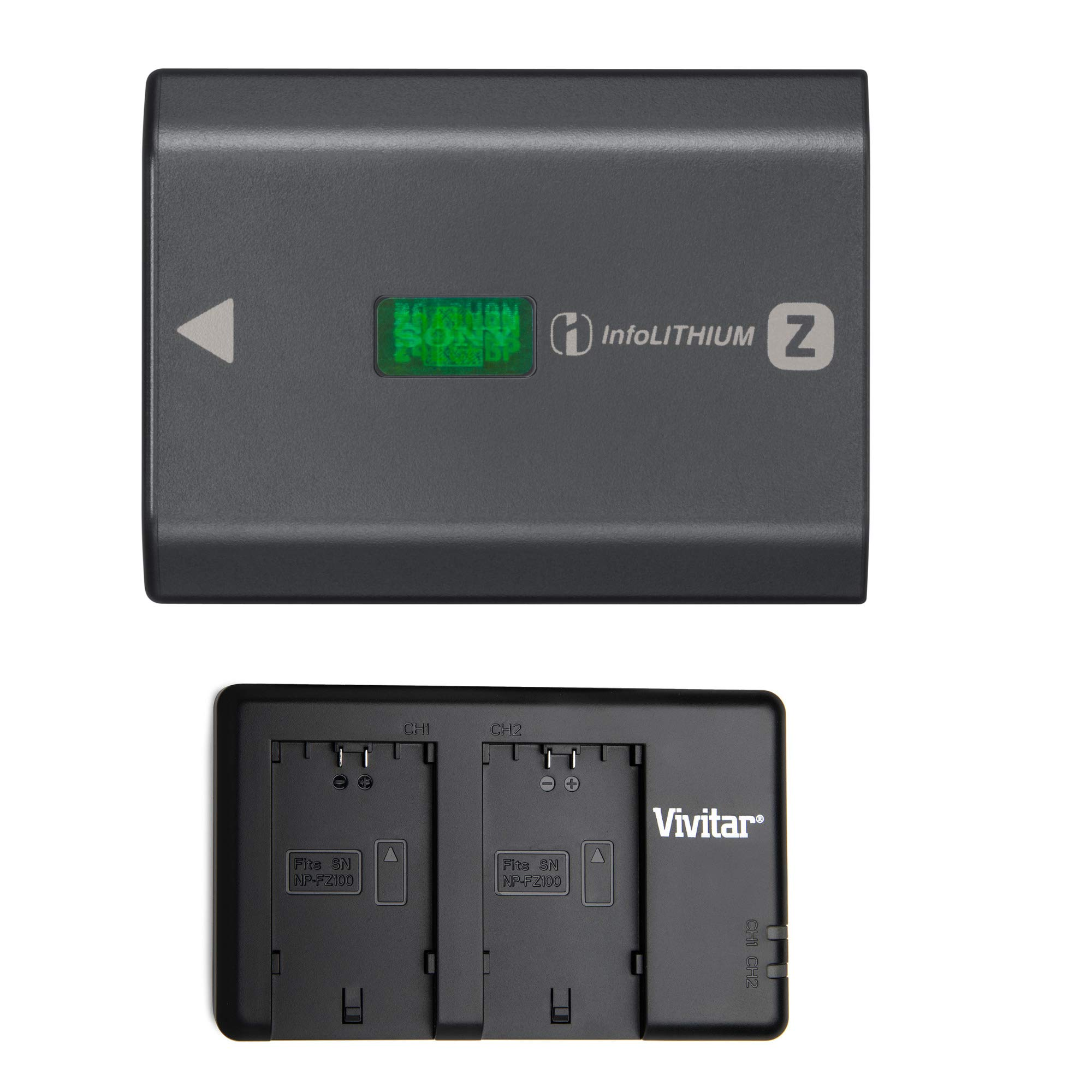 Sony NPFZ100 Z-Series Rechargeable Battery Pack with Vivitar Twin Charger for Sony NP-FZ100 by Focus Camera