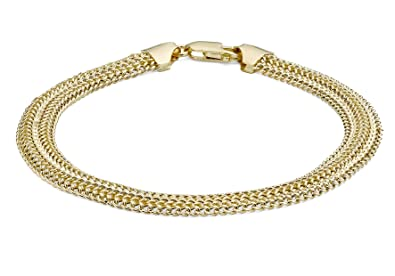 Carissima Gold 9ct Yellow Gold Women's Textured Woven Bracelet of 19cm/7.5 L0HWzSZUS