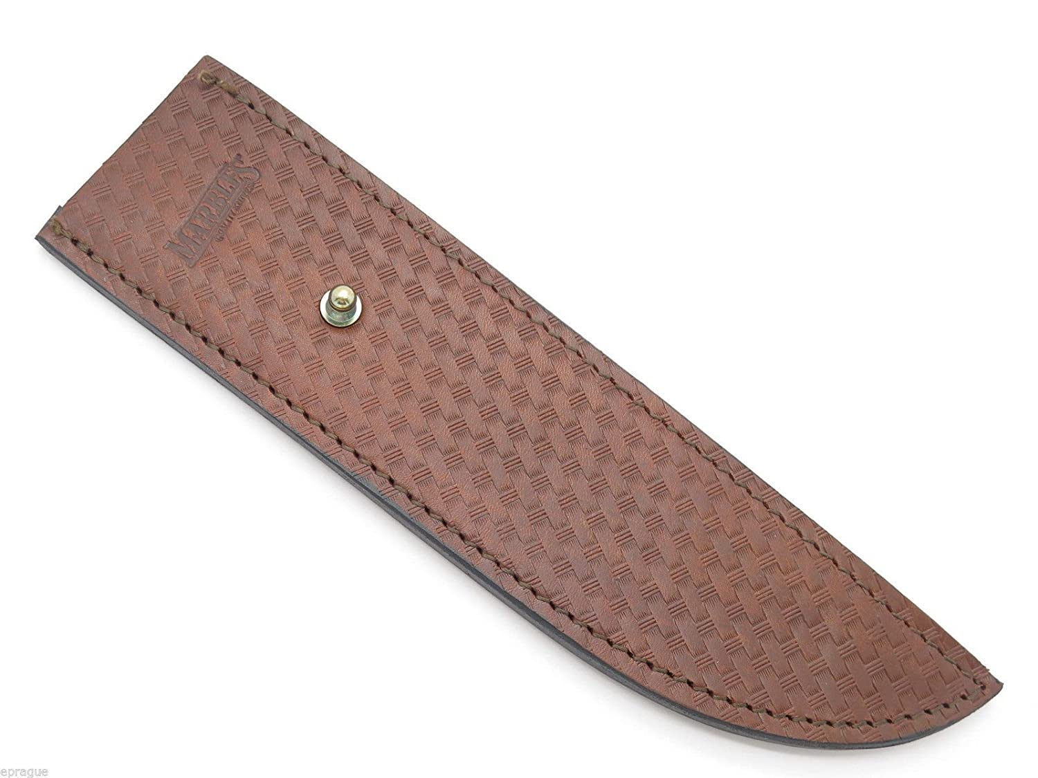 Marbles Vintage Tone Stud Trailmaker Sheath 10 Inch Fixed Blade Bowie Suvival Jungle Knife Brown Leather